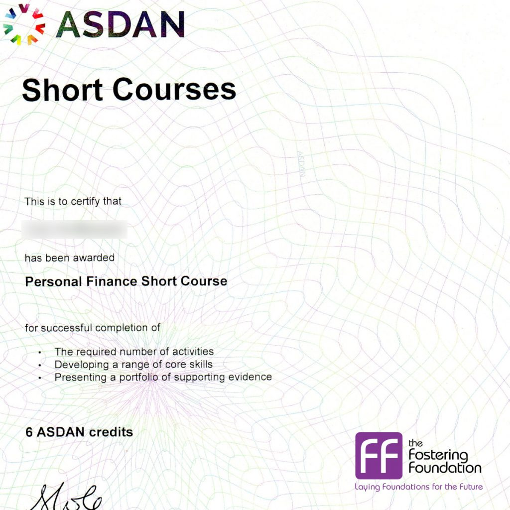 T in Devon Completed Two Asdan Courses