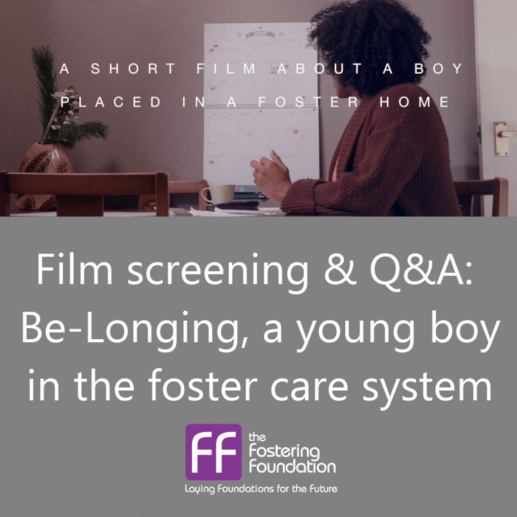 Film screening & Q&A: Be-Longing, a young boy in the foster care system
