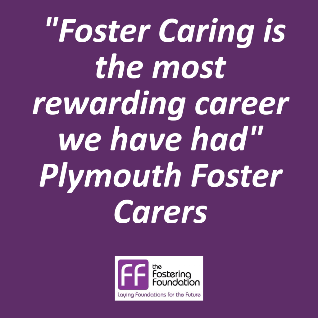 Foster Caring is the most rewarding career we have had- Plymouth Foster Carers